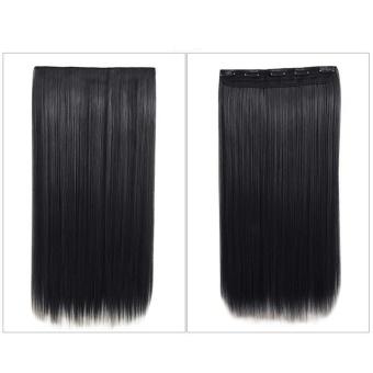 Whyus-tahan Fashion 64 Cm Clip-in Hair Extension Matte Potongan Rambut Lurus Panjang