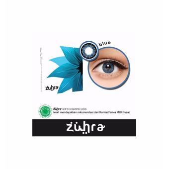 Zuhra Softlens - Blue + Gratis Lenscase