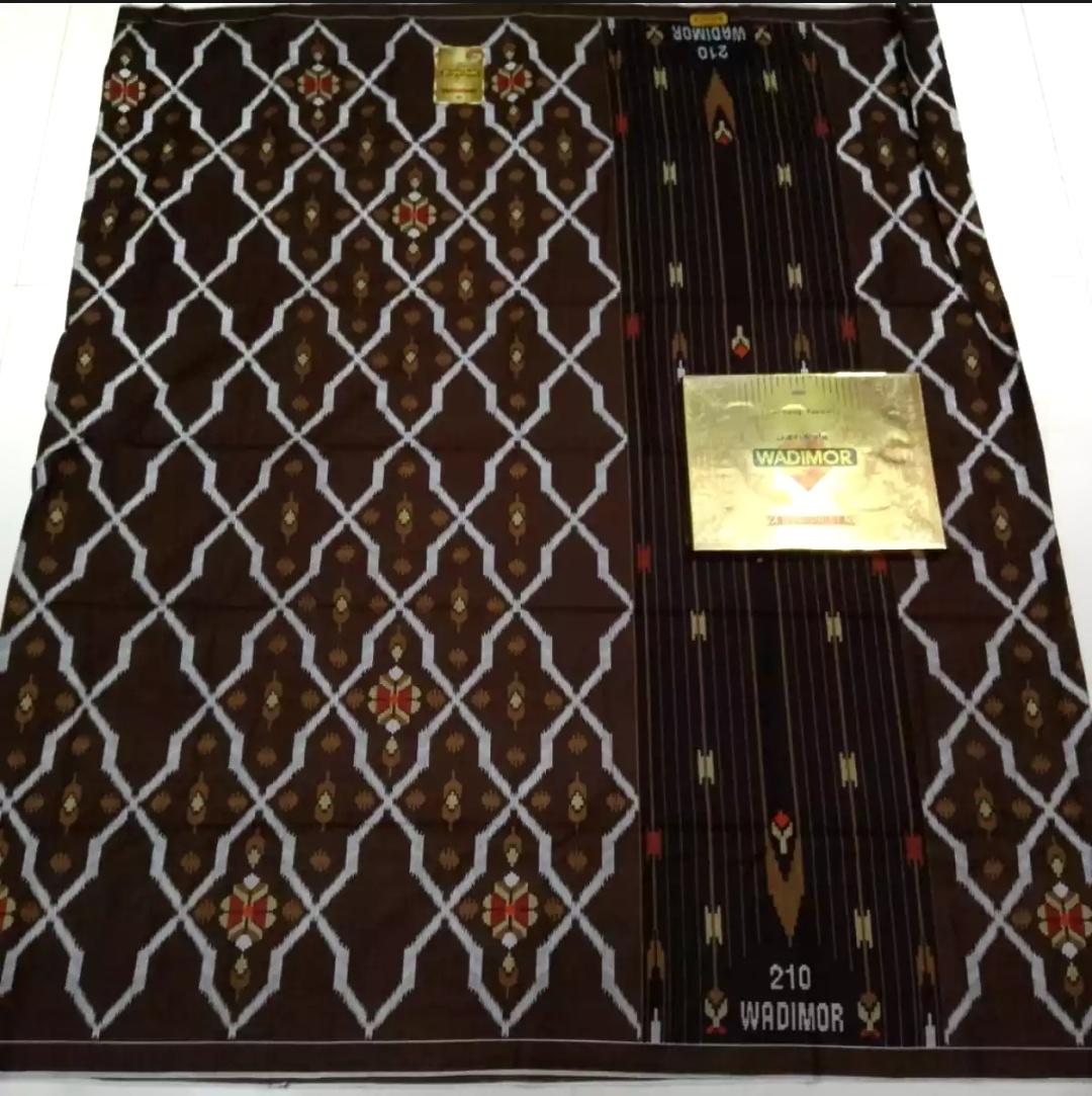 sarung pria wadimor bali print motif bhs no 1  2020 warna [ coklat ] sarung wadimor