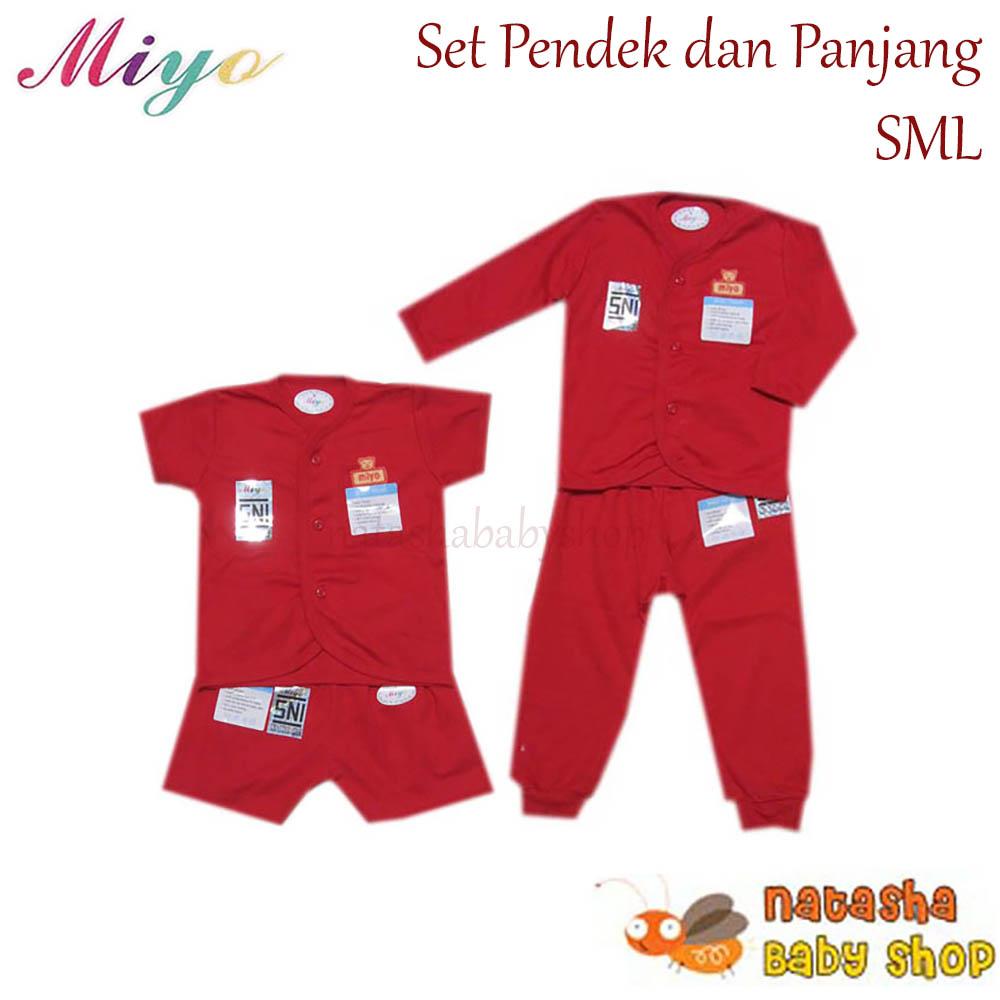 miyo red set pendek panjang – merah