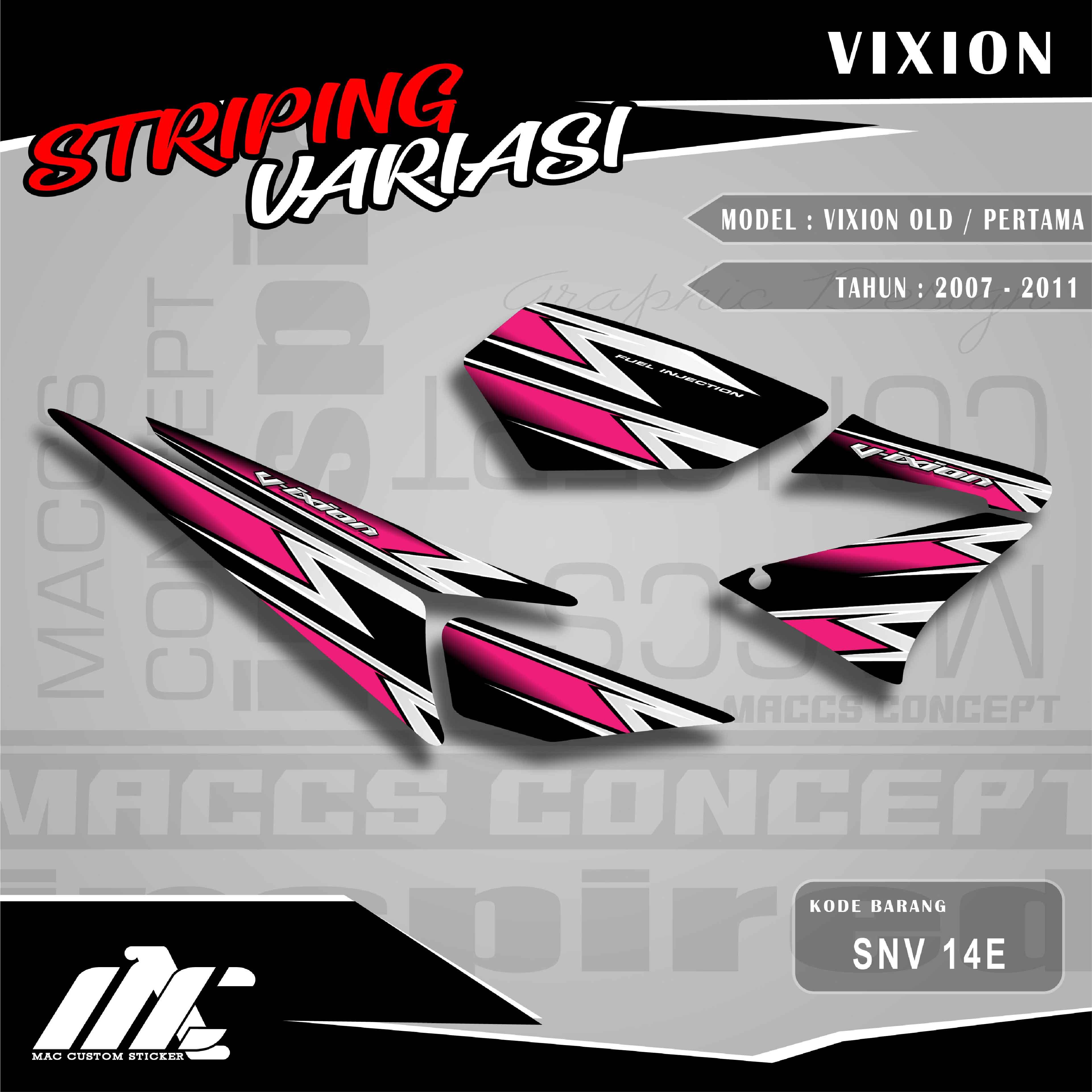 striping variasi yamaha vixion old / pertama – snv 14