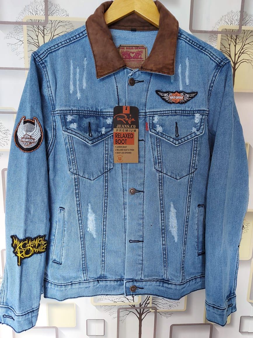 swf store jaket jeans pria levis mode sobek tet / jaket jeans pria premium casual pria  terlaris