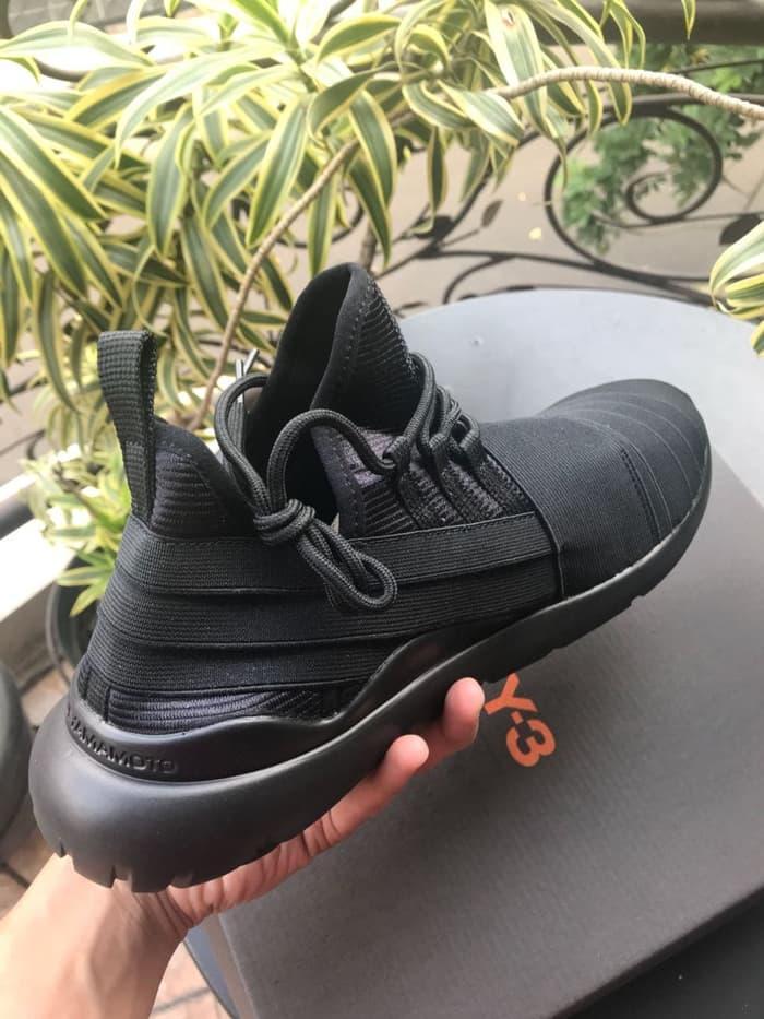 Detail Gambar Promo..!! Running Shoes sepatu sneakers Y3 Yohji Yamamoto Qasa Elle Black High Premium Original / sepatu pria diskon / sepatu sport pria ...