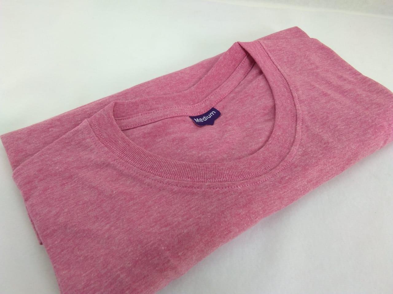 Kaos Polos PINK MISTY / Baju Kaos Polos Ping Misti / Lengan Pendek / Pria Wanita