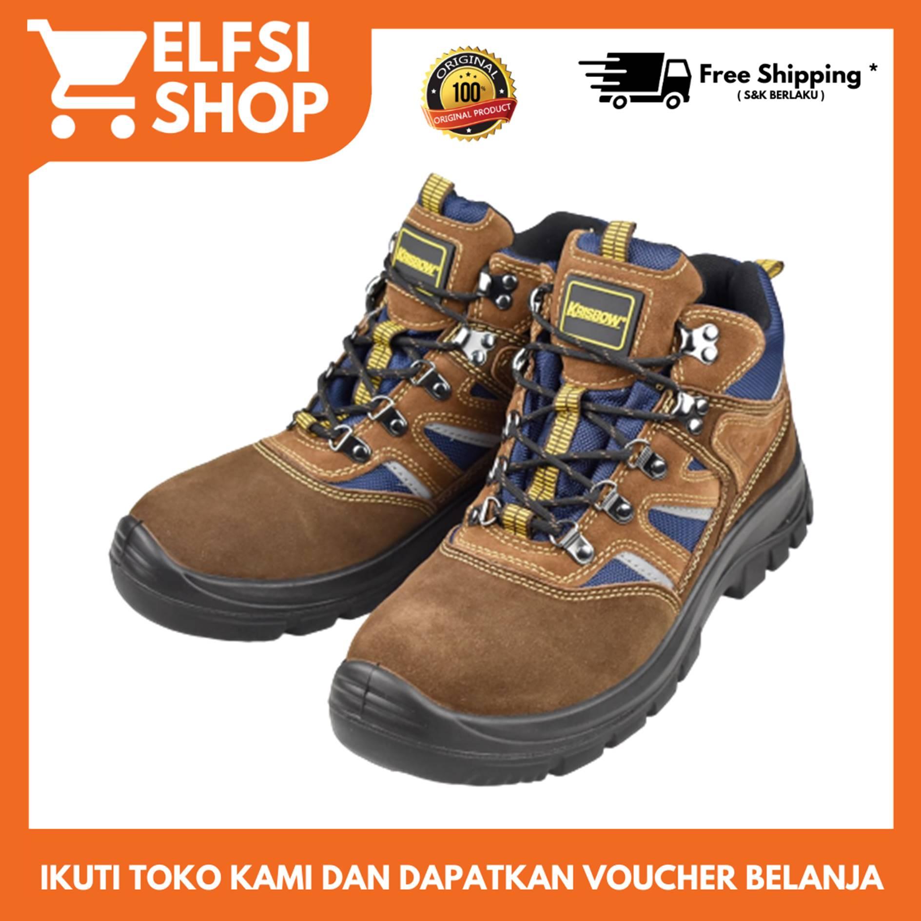 krisbow – sepatu pengaman / sepatu safety prince ankle boots 6″ – cokelat