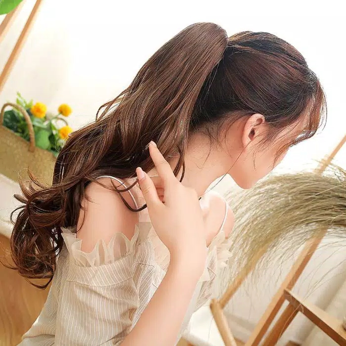 hair clip ponitail jepit curly warna