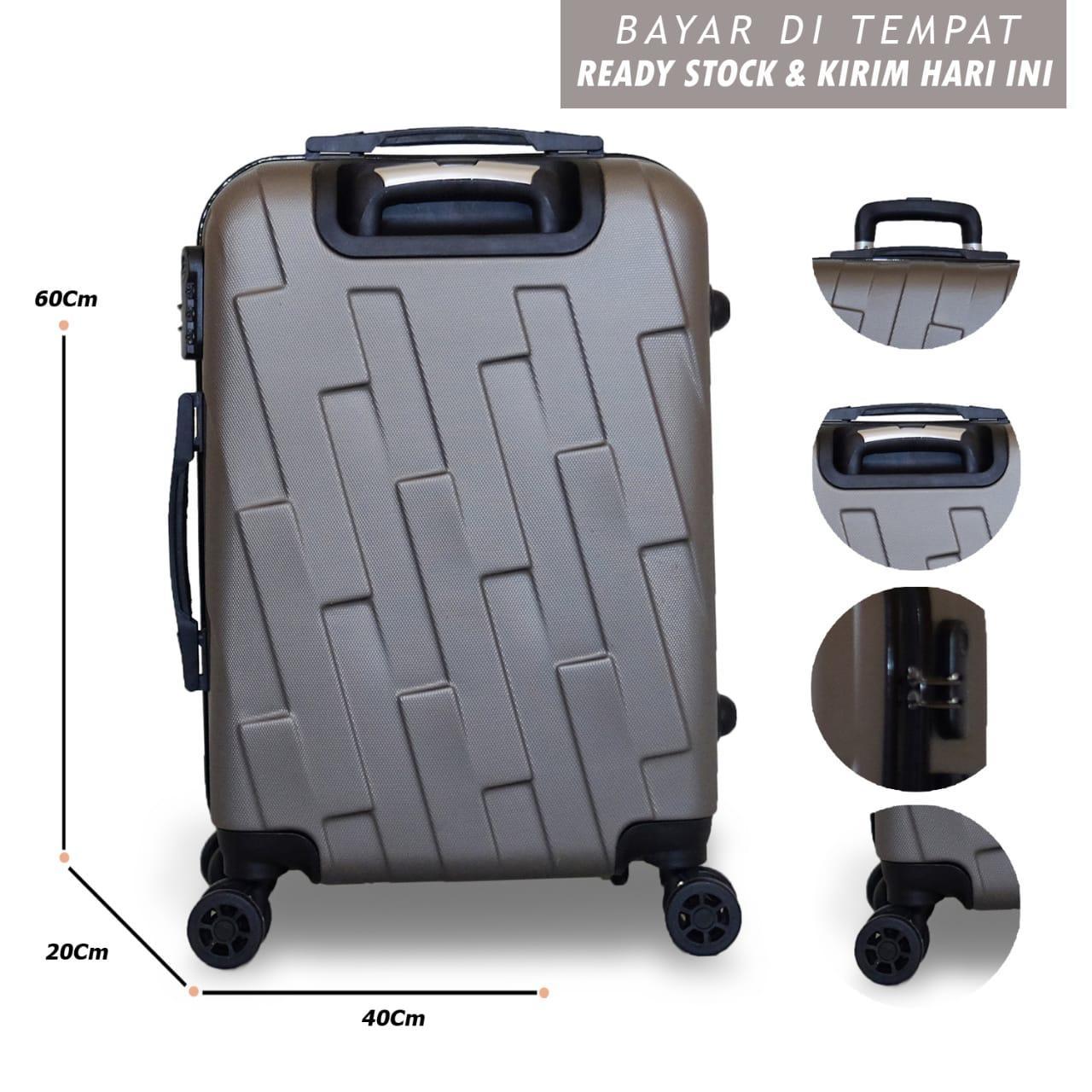 Detail Gambar Koper Polo UVO Hardcase Luggage 21 Inchi 804-20 Silver  Waterproof Terbaru 20e613d55c