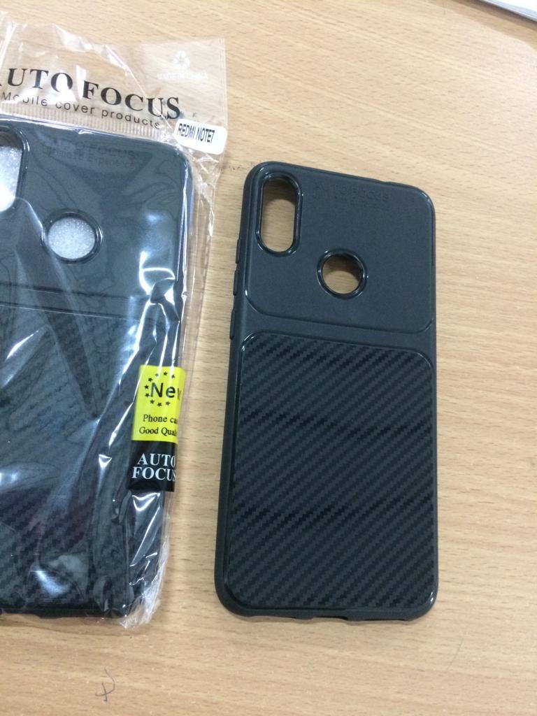 ... Soft Case Auto Focus Fiber Carbon Case Redmi Note 7 - 3