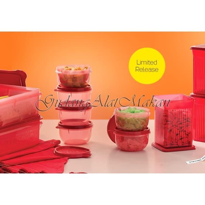Detail Gambar Tupperware Kiddie Set (6) Red Terbaru
