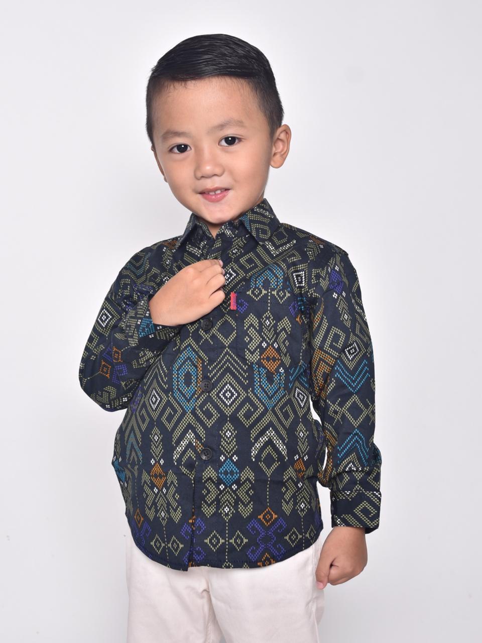 3lstore kemeja anak 1 – 12 tahun motif sekar jagad atasan batik bayi balita kid fashion anak cowok laki kemeja batik pria lengan panjang exclusive kemeja batik cowok kantoran kemeja batik formal kemeja import kemeja priting kemeja batik1206