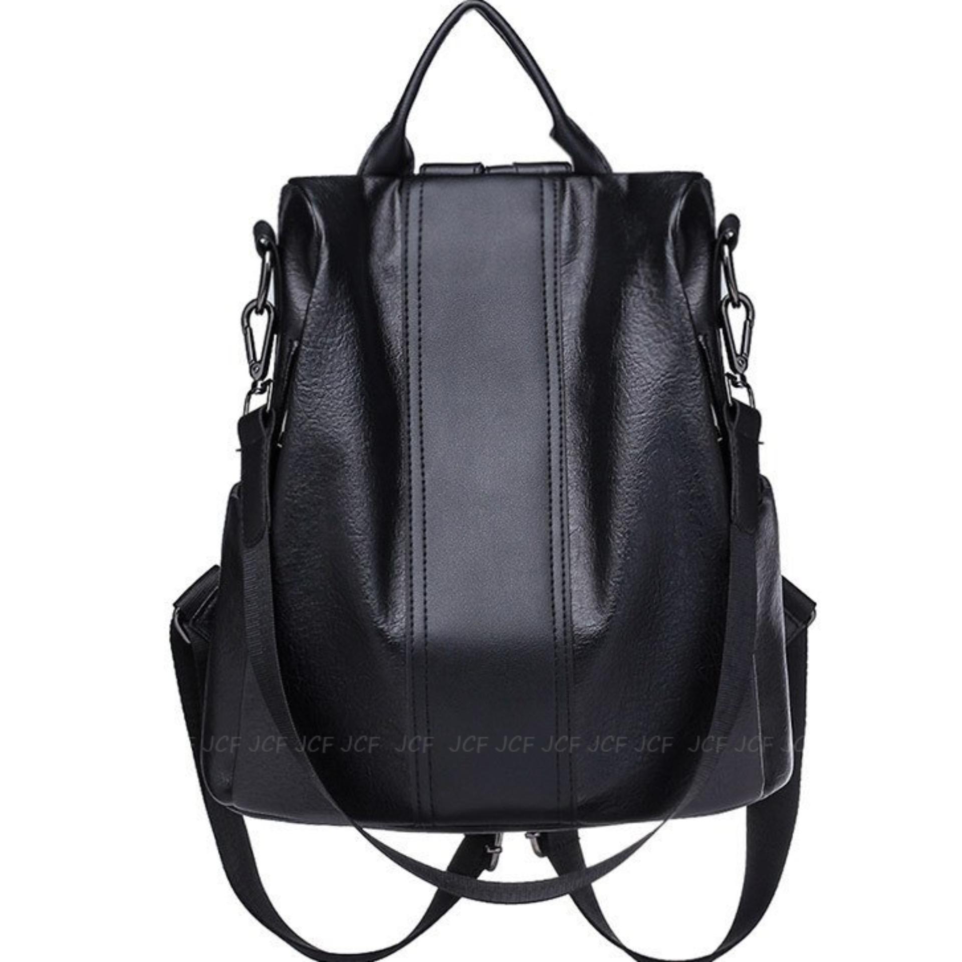 JCF Tas Import Ransel Slempang Sling Tebal Bahan Kulit Sintesis Multifungsi  3in1 Fashion Korean Style Bagus 6c13a1b004