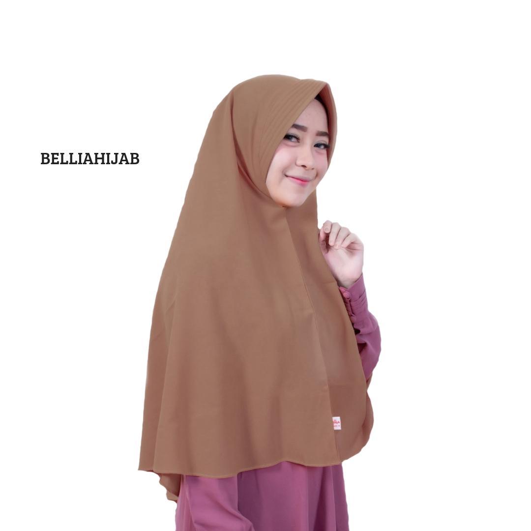Bellia Hijab Hijab Instant Sabrina - Black Pashmina Instan PASTAN kerudung langsung pakai murah terlaris Jilbab
