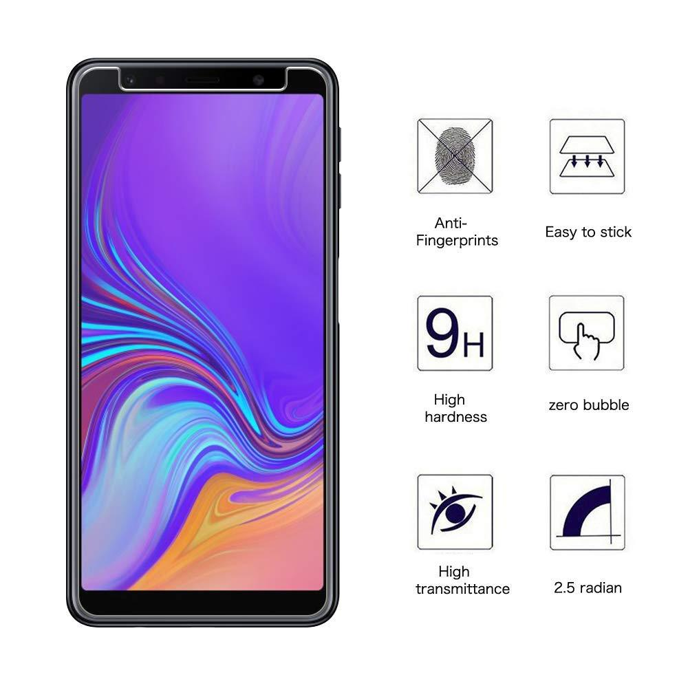Detail Gambar Tempered Glass Screen Protector Anti Gores Kaca Samsung Galaxy A7 2018 ( A750 ) Triple Camera Layar 6.0 inch - Bening Terbaru