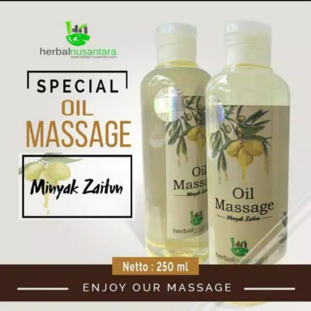 cod – 250ml masage oil zaitun aromatherapy pure minyak urut gosok pijat spa massage oil herbal nusantara