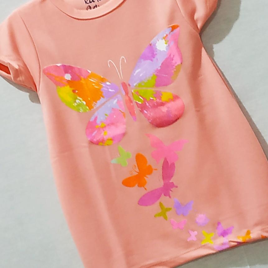 kayo clothing dress balon anak anak motif kupu kupu size s m l xl usia 1-5 tahun / bisa cod
