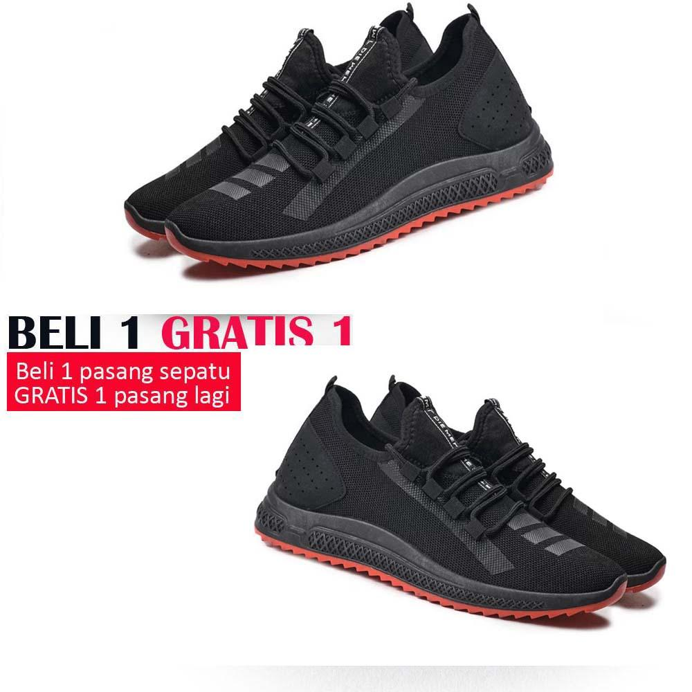 BUY 1 GET 1 Sepatu Sneakers Import Korean Ringan Sport Casual - Sepatu Import Sneakers Soft Casual Sports Shoes