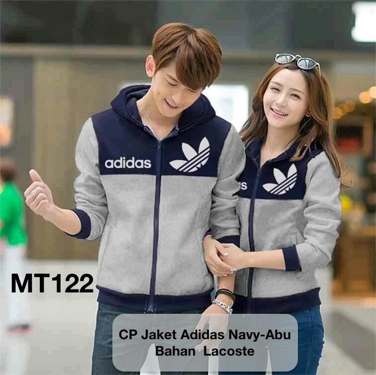 jaket couple/jaket pasangan/jaket couple anavy grey grosir