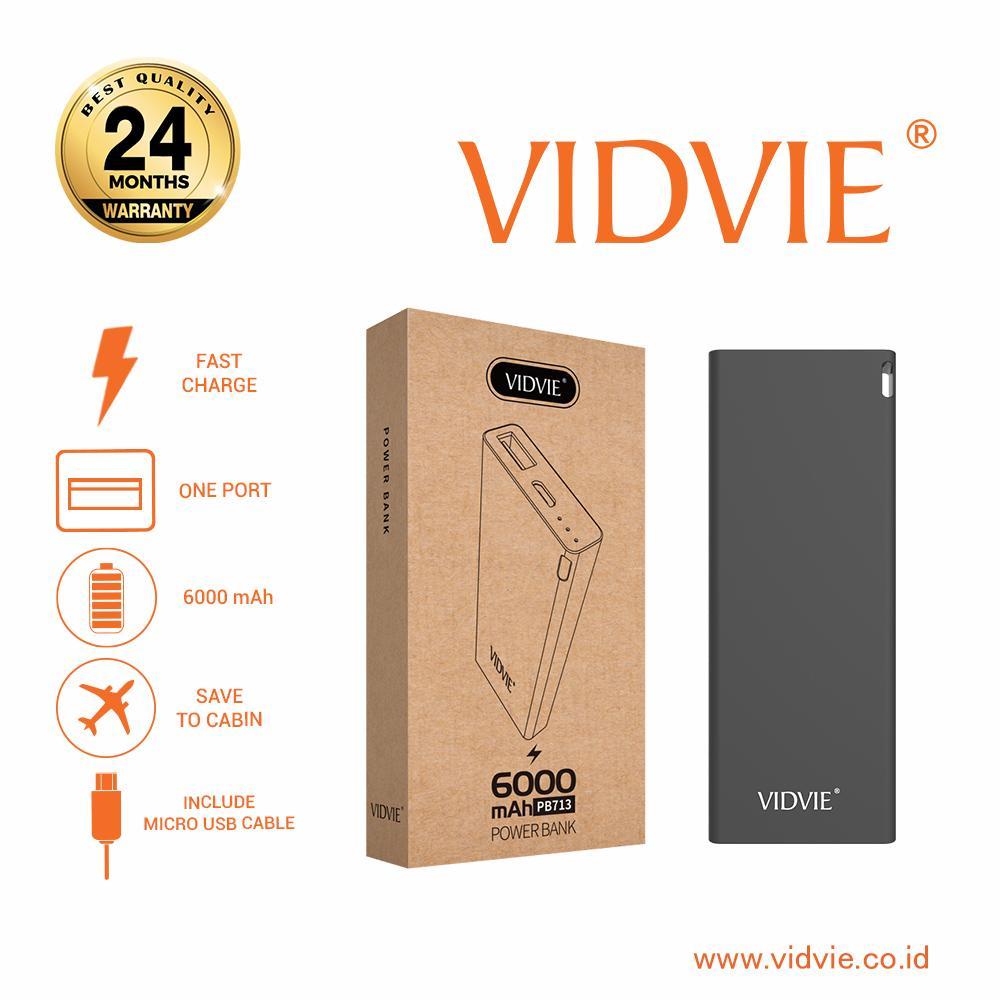 ... Vidvie Powerbank PB713 6000 Mah Battery Charger Pengisi Daya