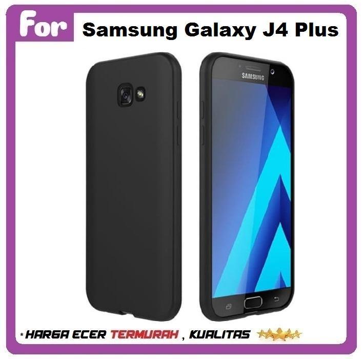 Fitur Case Samsung J4 2018 Softcase Silicon Thin Doff Black Matte J4