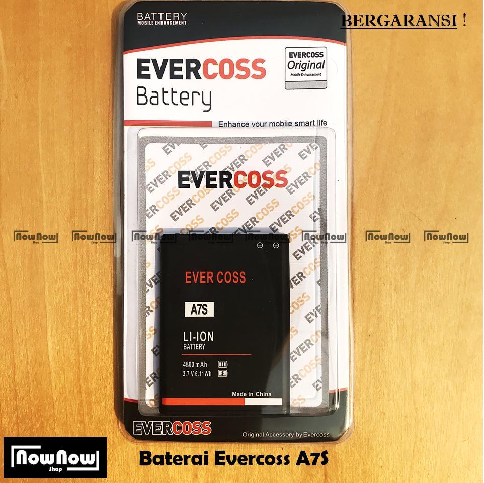 Baterai Evercoss A7S Original Double Power Batre Batrai Battery HP Evercross