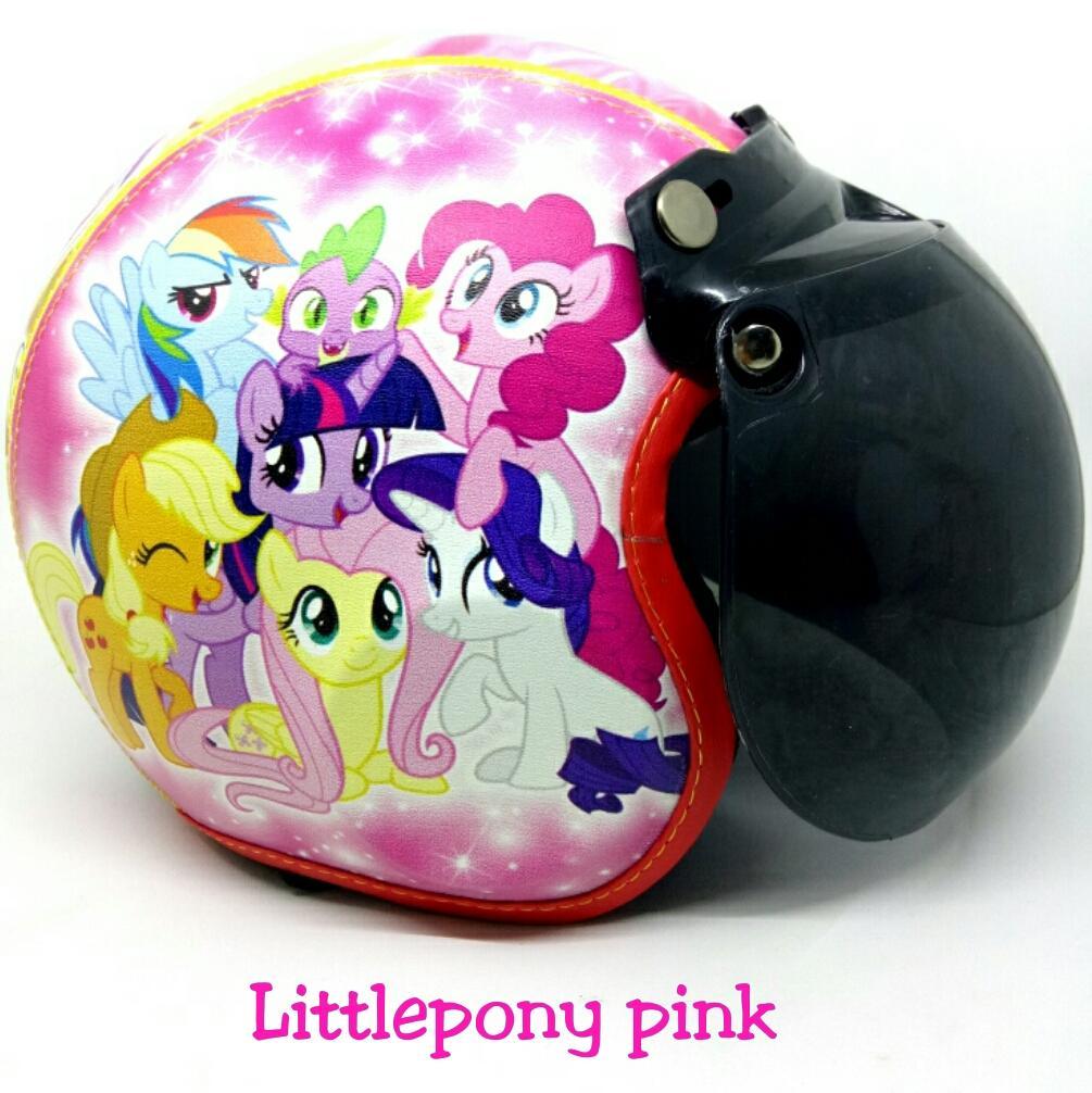 Helm Bogo Anak 1-6 Tahun Littlepony Pink Kaca Anak