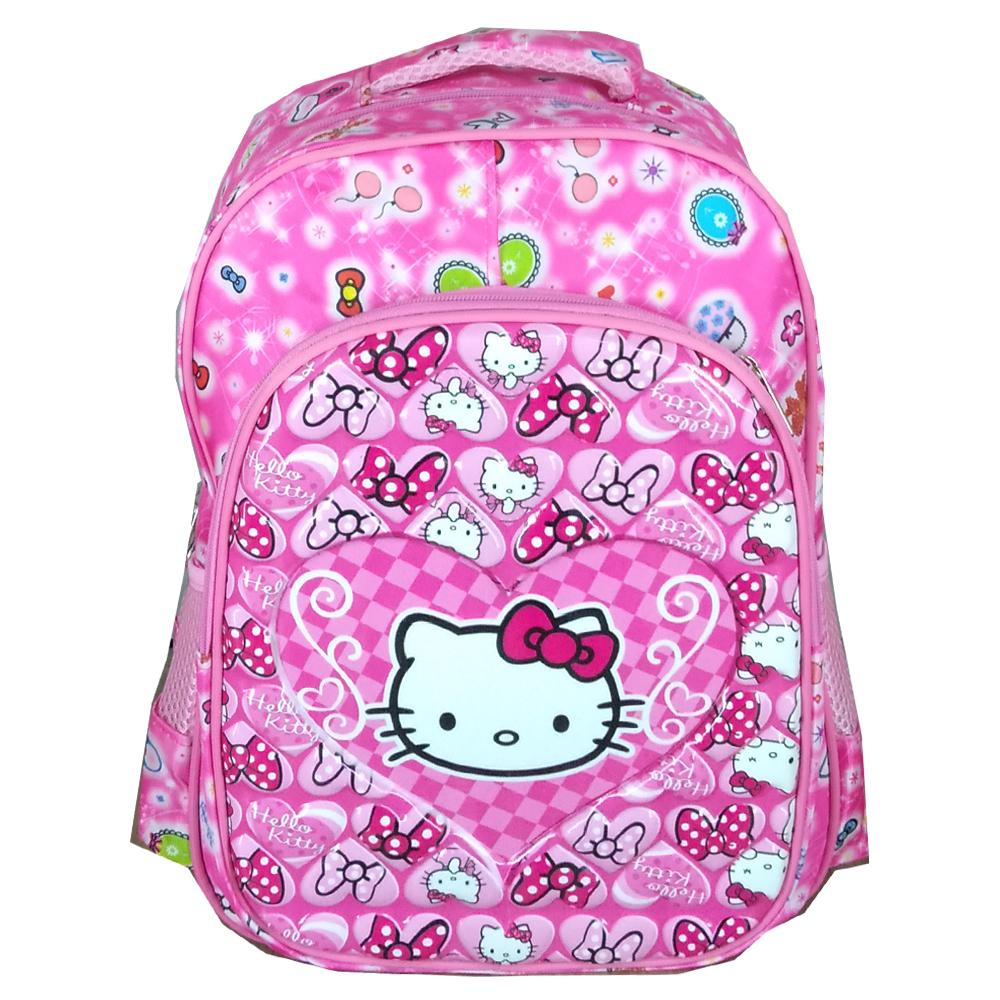 BGC Tas Ransel Sekolah Anak TK Hello Kitty Love IMPORT High Quality + Lunch Bag Aluminium ...