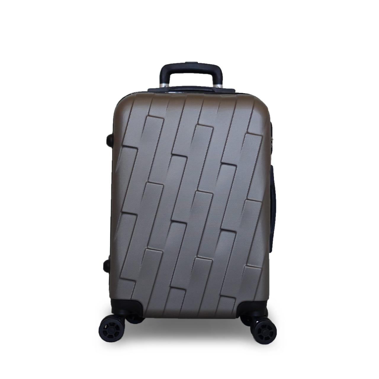 ... Koper Polo UVO Hardcase Luggage 21 Inchi 804-20 Silver Waterproof - 3 ...