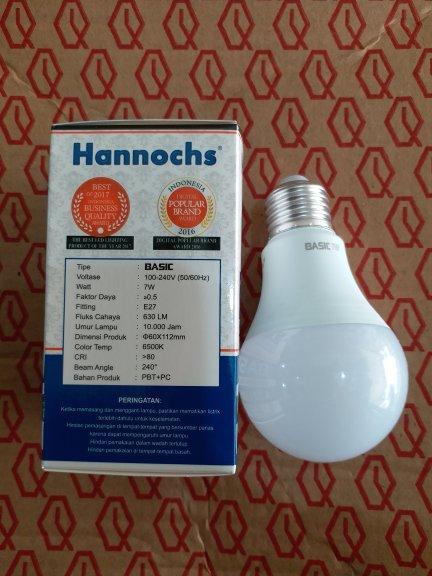 ... Lampu LED Hannochs Basic 7w 7 Watt Putih - Bohlam Hemat Listrik - 3 ...