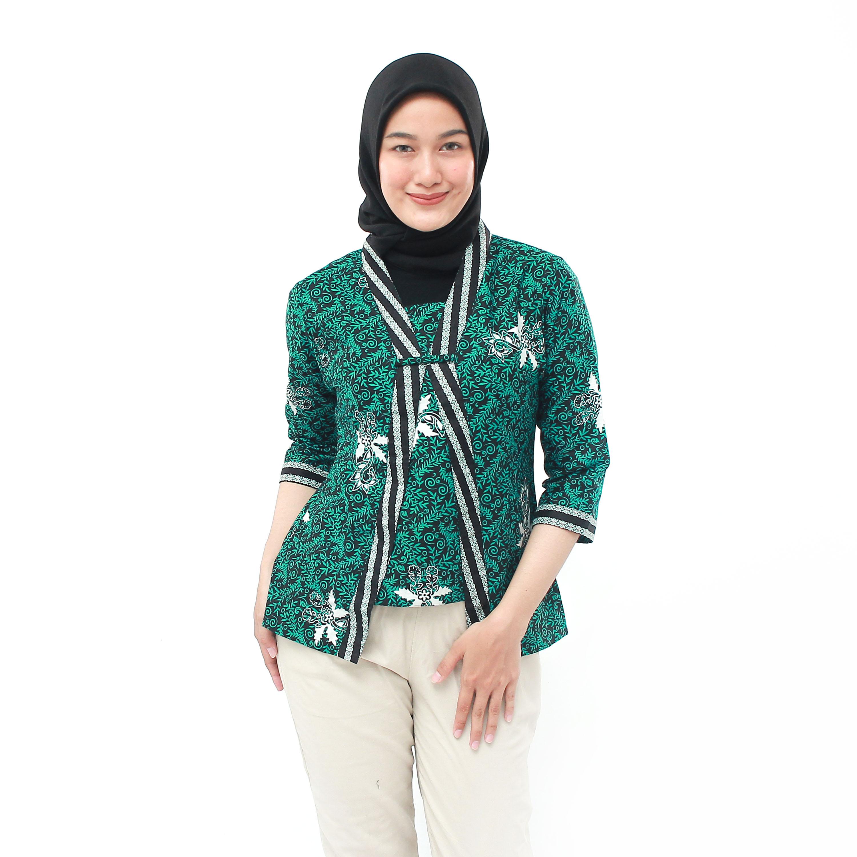 blouse batik wanita-atasan batik-kutu modern – blus batik – s-m-l-xl-xxl-3l-4l-5l-  batik dua putri pekalongan