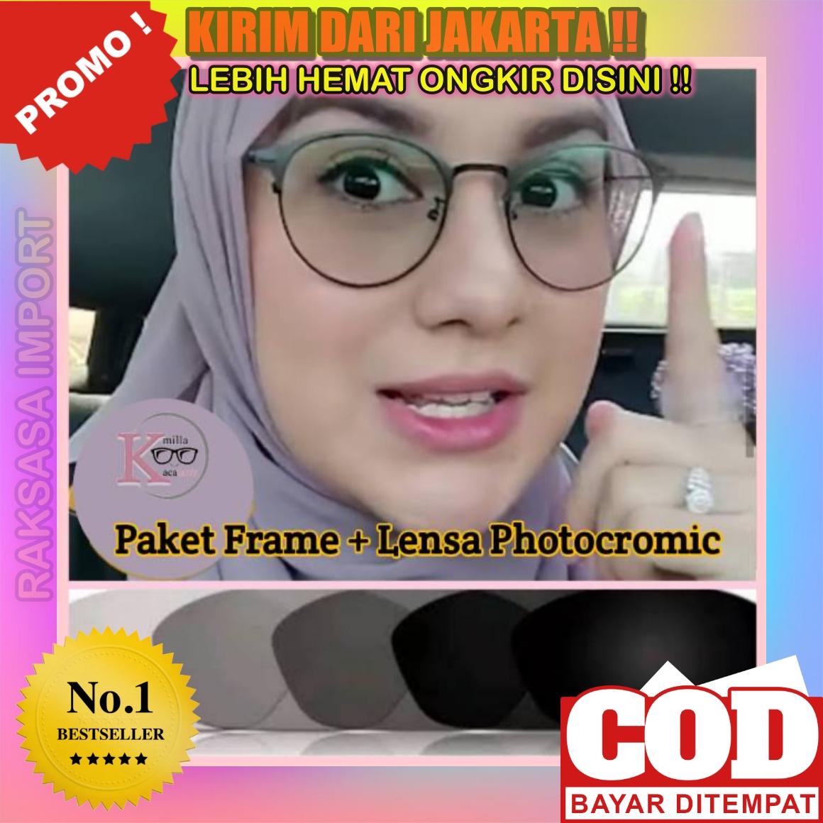 ( model  )kacamata baca frame km11 anti radiasi metal gaya retro untuk pria / wanita b11