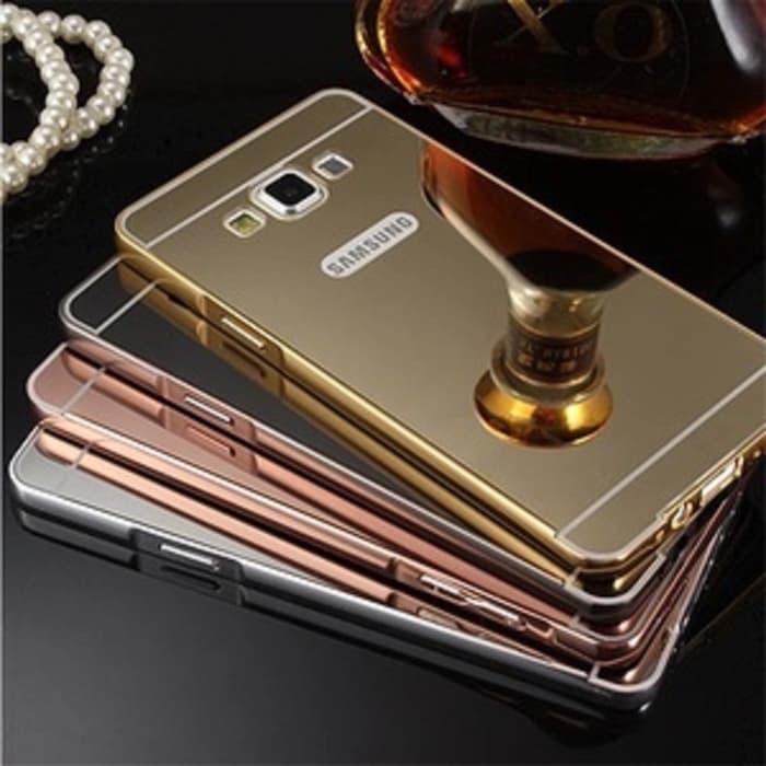 Case Samsung Galaxy A5 2015 A500 Aluminium Metal Bumper With Mirror Back Cover Back Case Cover