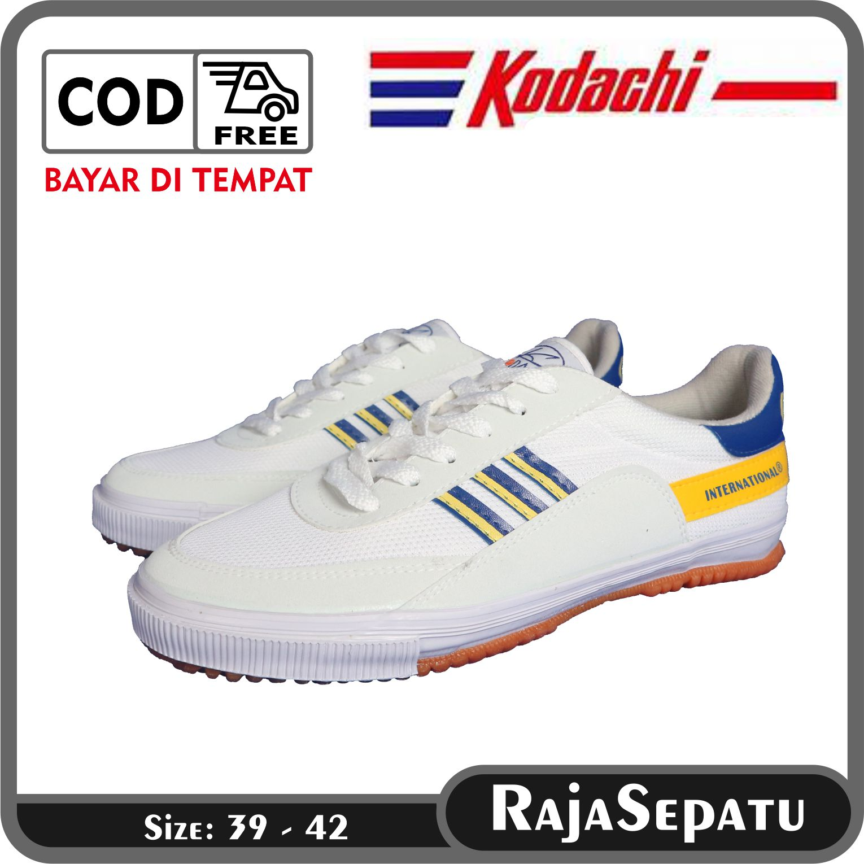 rajasepatu – kodachi sepatu olahraga 8116 kuning biru 38-42  / sepatu badminton 8118  tennis olahraga outdoor kodaci / shsp sepatusport raja sepatu
