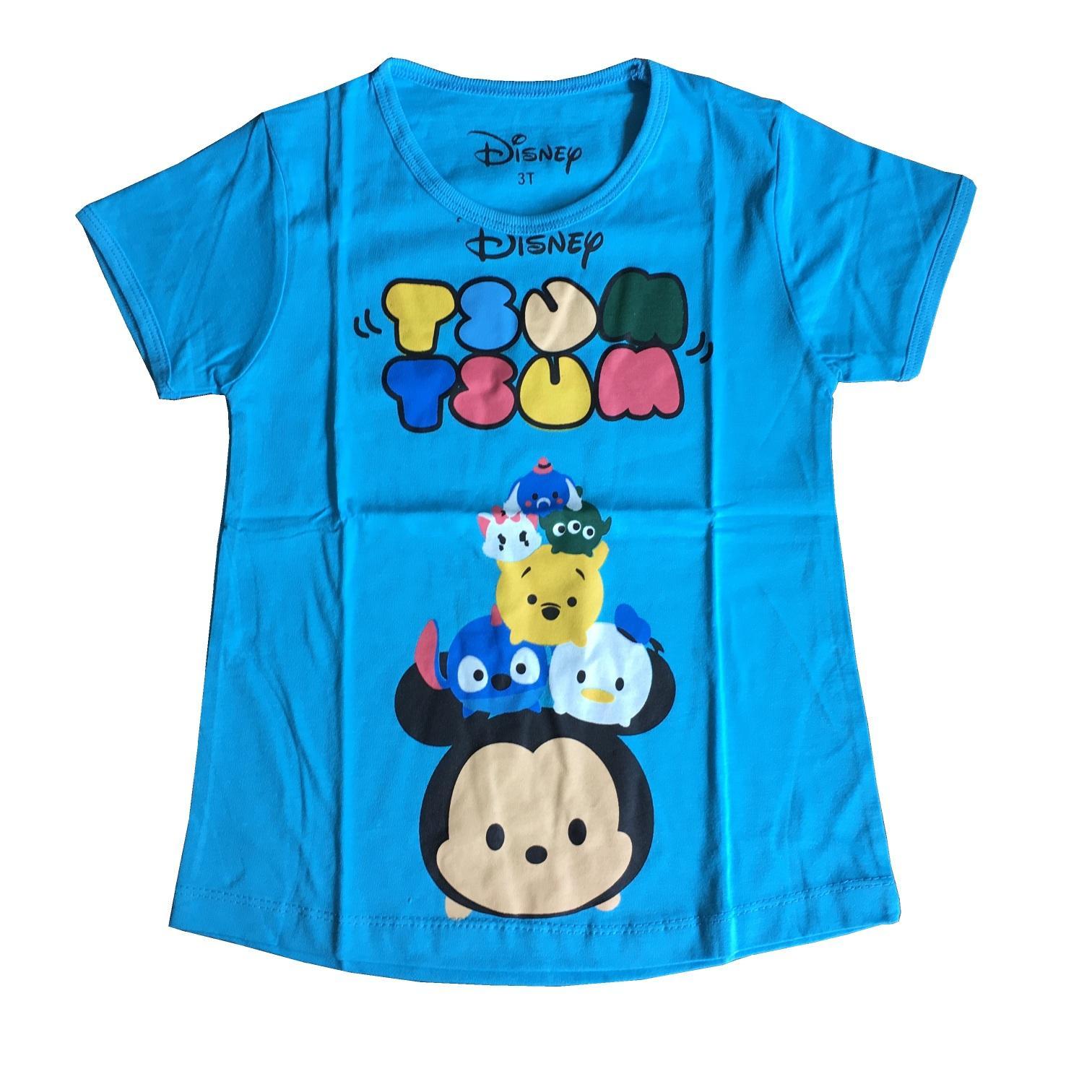 Kaos Anak Perempuan Tsum-tsum Biru 1-6tahun