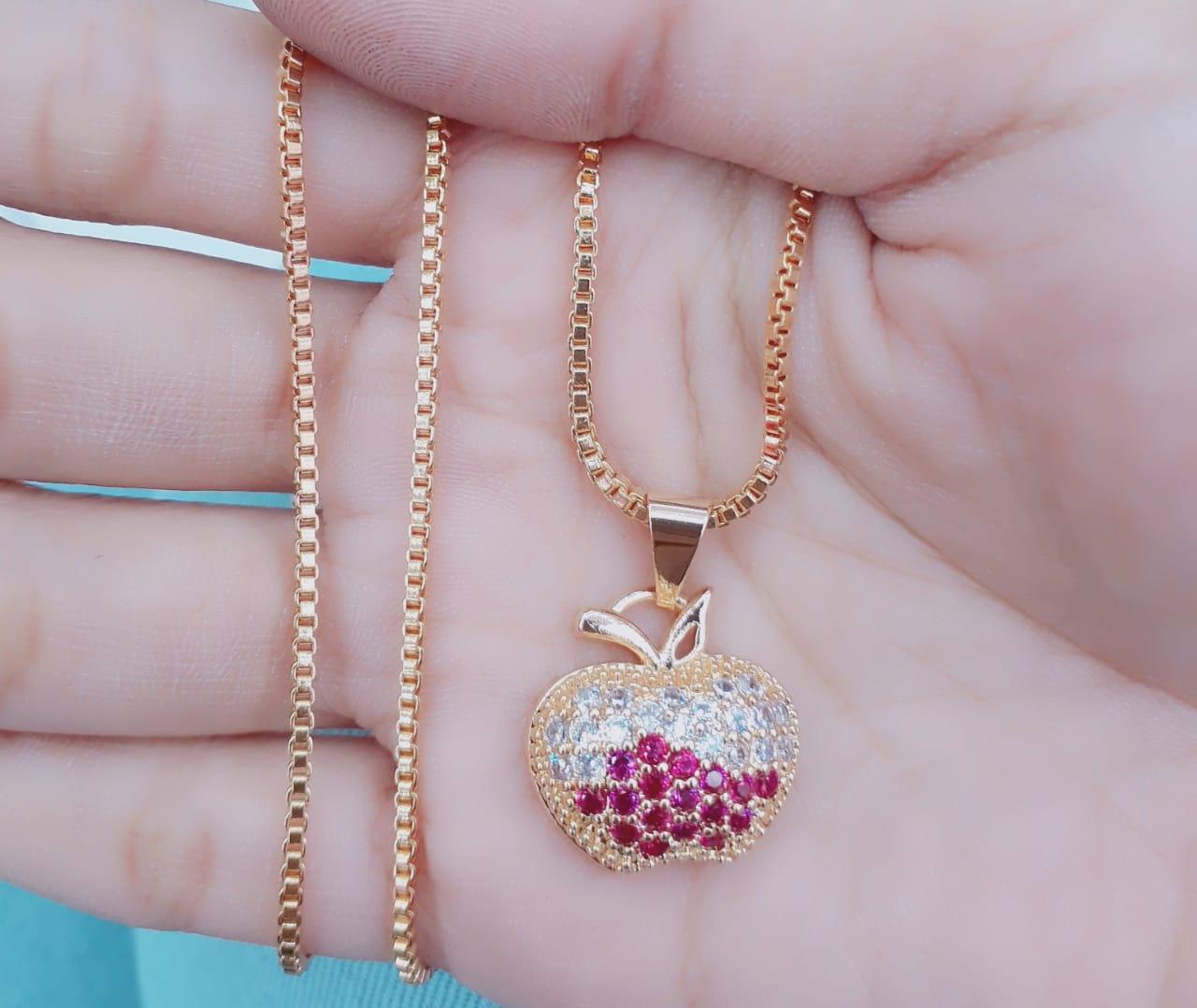 Kalung perhiasan wanita fashion xuping jewelry motip aple