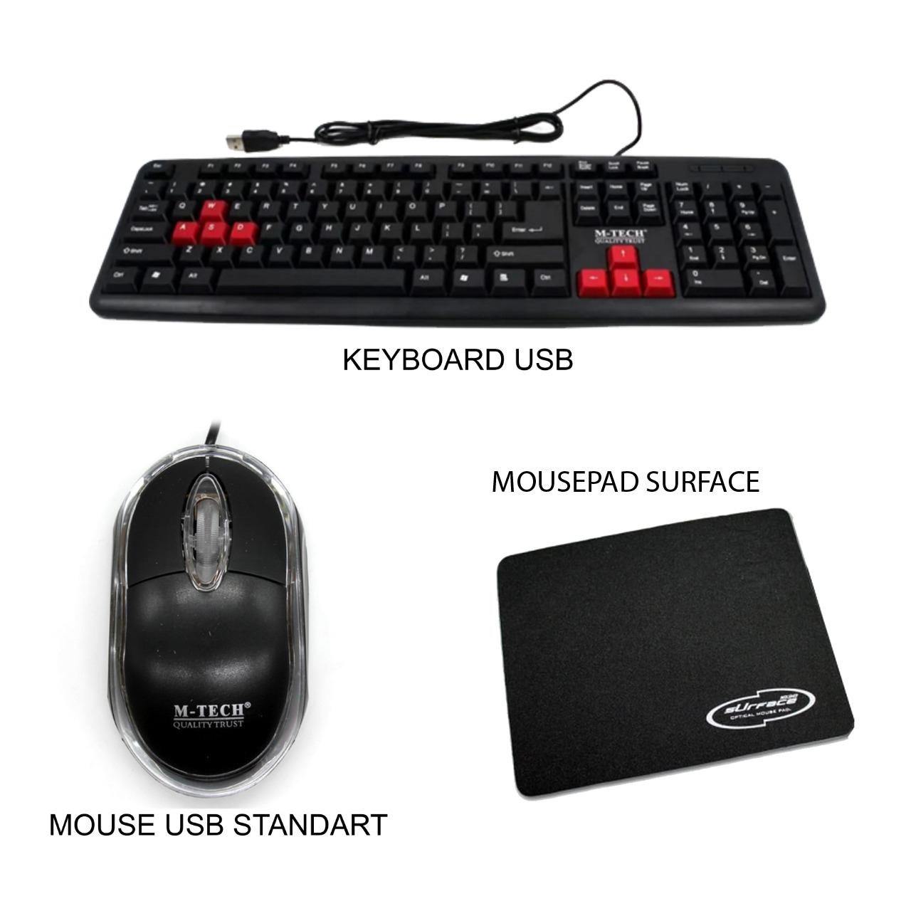 keyboard usb for pc komputer laptop paket
