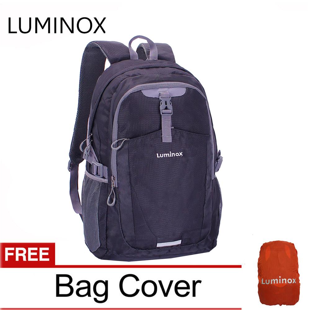 luminox tas ransel laptop kasual anti air – tas pria tas wanita backpack up to 15 inch – daypack ggei free bag cover