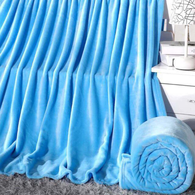 selimut bulu polos dewasa