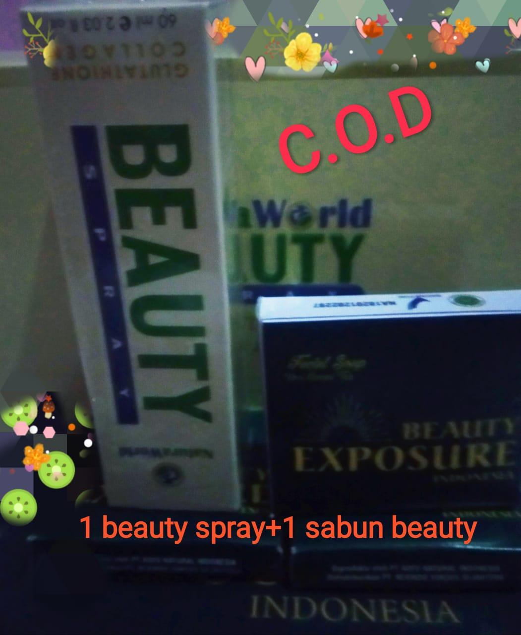 spray beauty + sabun greentea natura world /original 100%