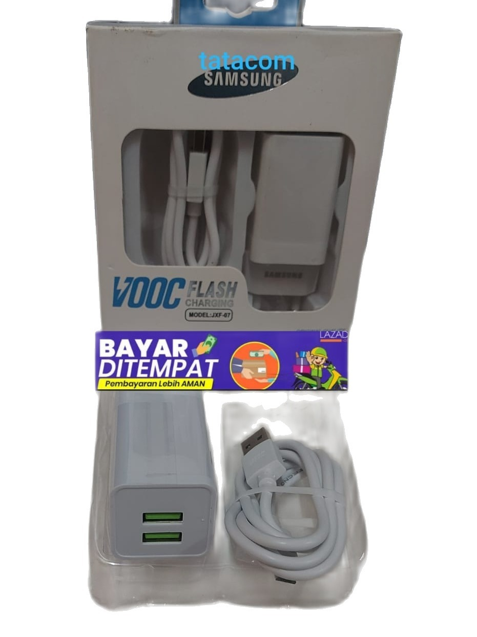 NEW Charger  2 lubang casan untuk samsung micro usb  original authentic travel Adaptor charger casan 15W Adaptive Fast...