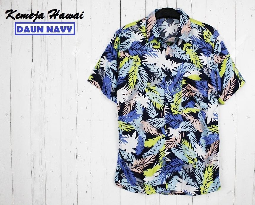 fortklass kemeja pantai pria hawai cowok bali reggae cowok pendek satai rayon halus motif daun