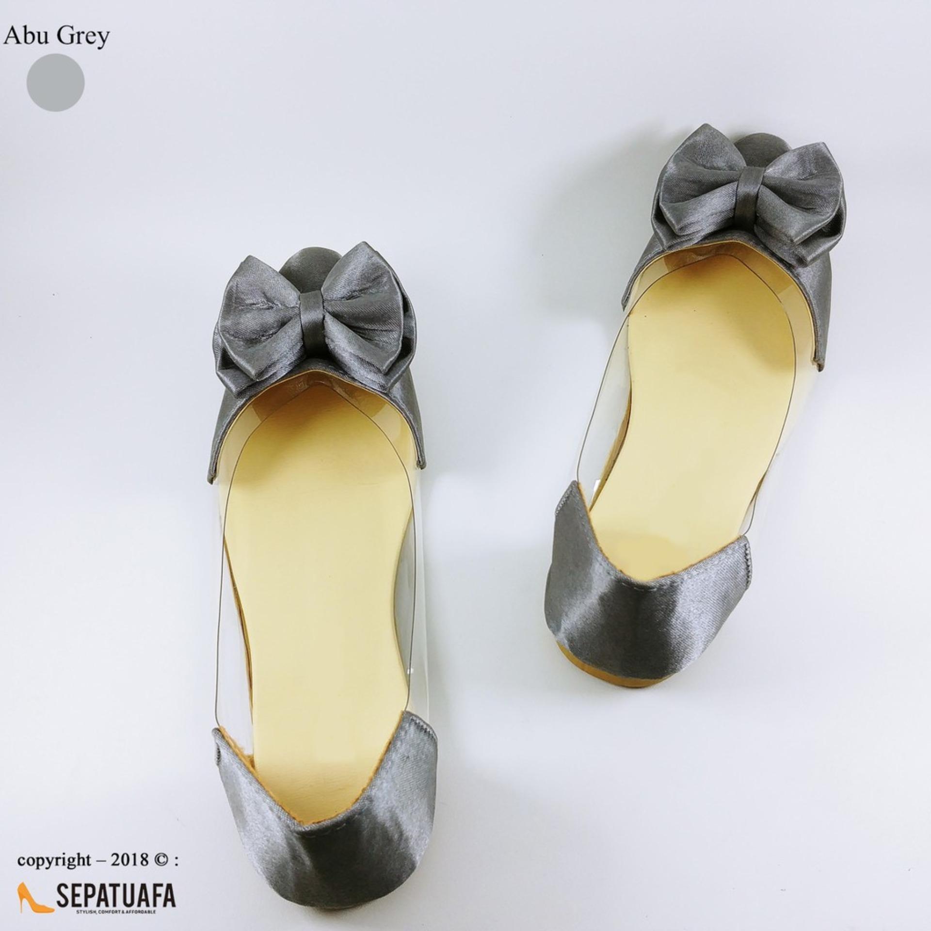 Sepatuafa - Flat Shoes Sepatu Teplek Wanita Mika Pita Satin SP25