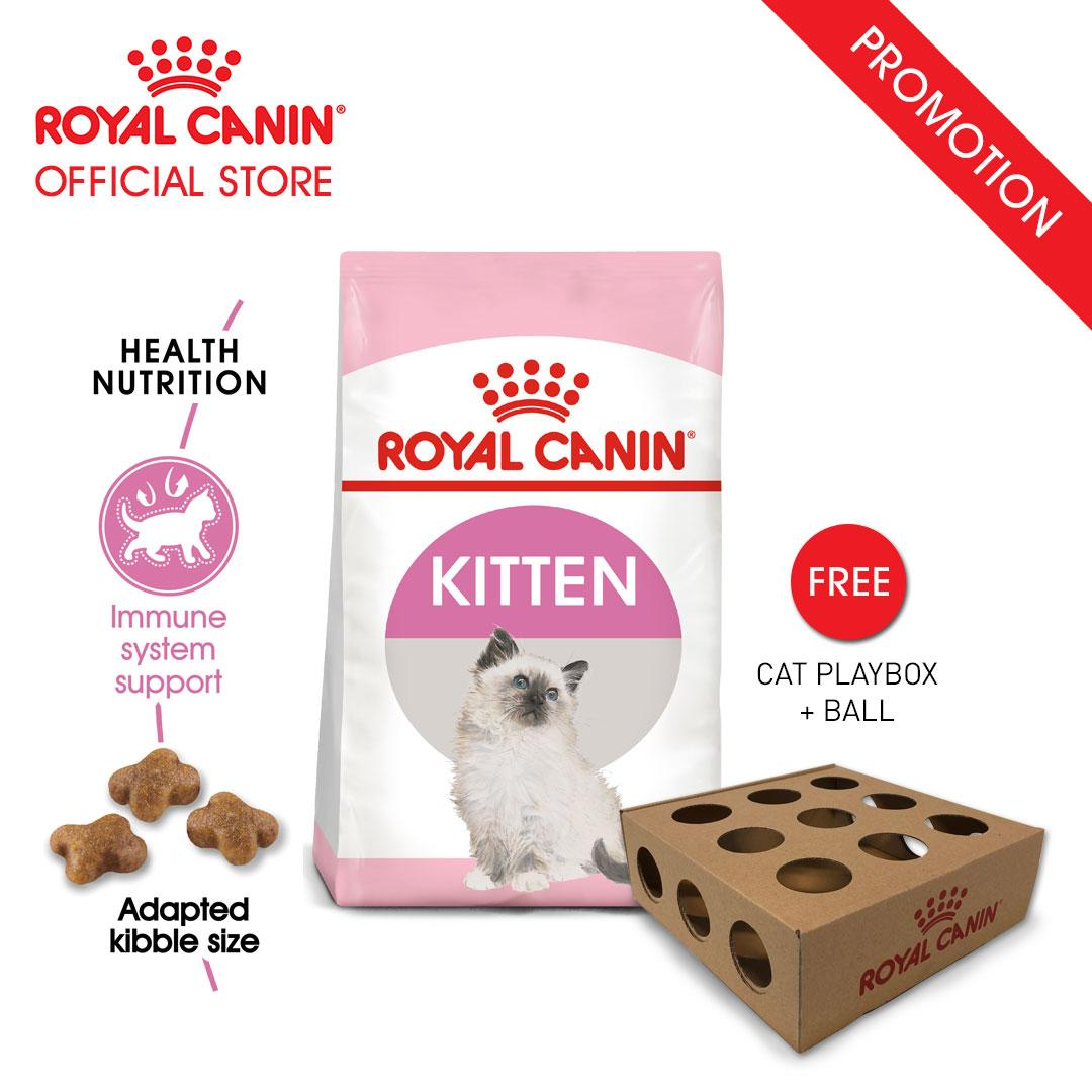 Royal Canin Kitten Makanan Anak Kucing Dry 2kg FREE Cat Playbox