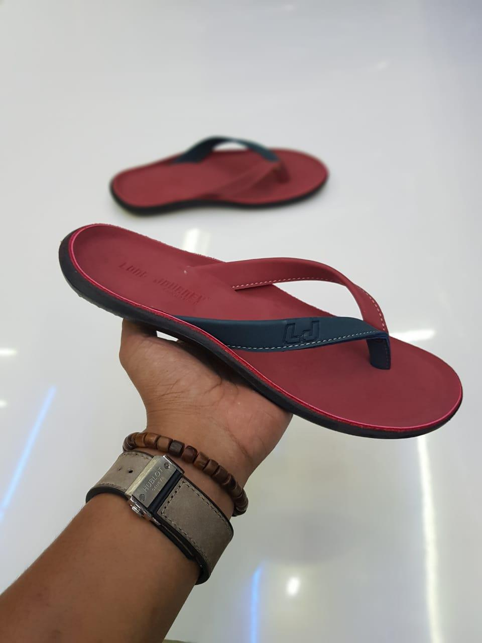 (bayar tempat) sandal kulit pria 100% kulit dengan desaint  high quality -popi ollshop
