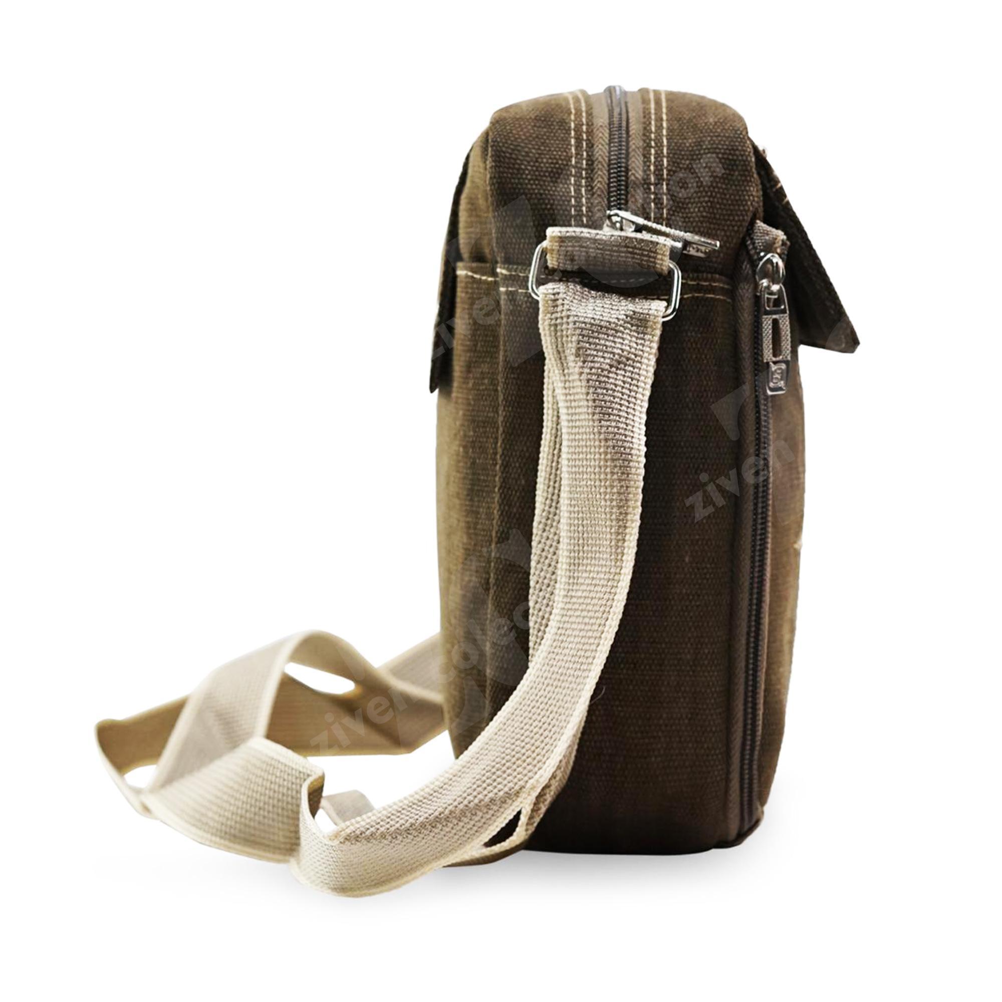 ... Tas Pria Men Baepack 1508 Vintage Canvas Multifunction Travel Satchel Messenger Shoulder Bag - 3 ...