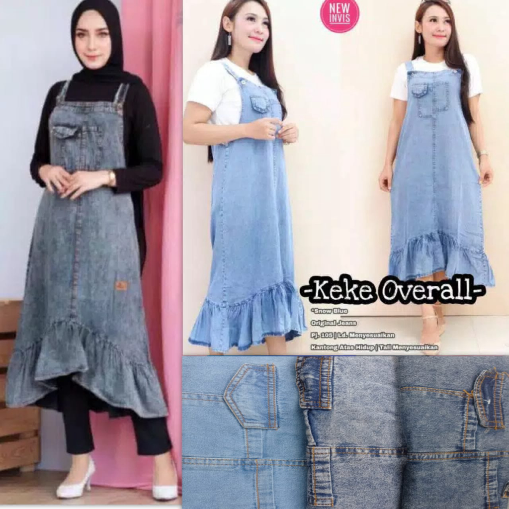 overall jeans keke 100