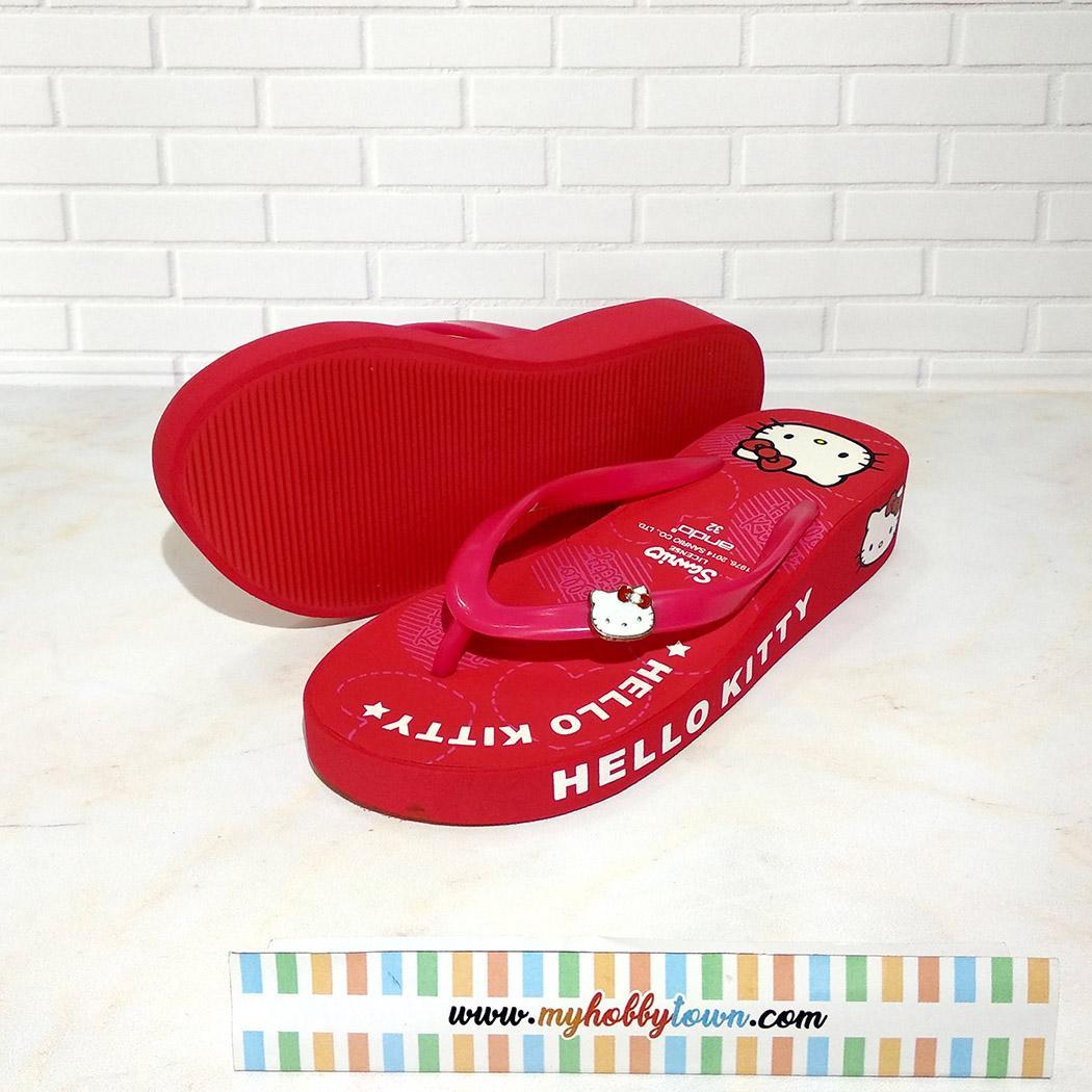 Sandal Jepit Anak Sanrio Hello Kitty Merah Size 30 - 35 - 3