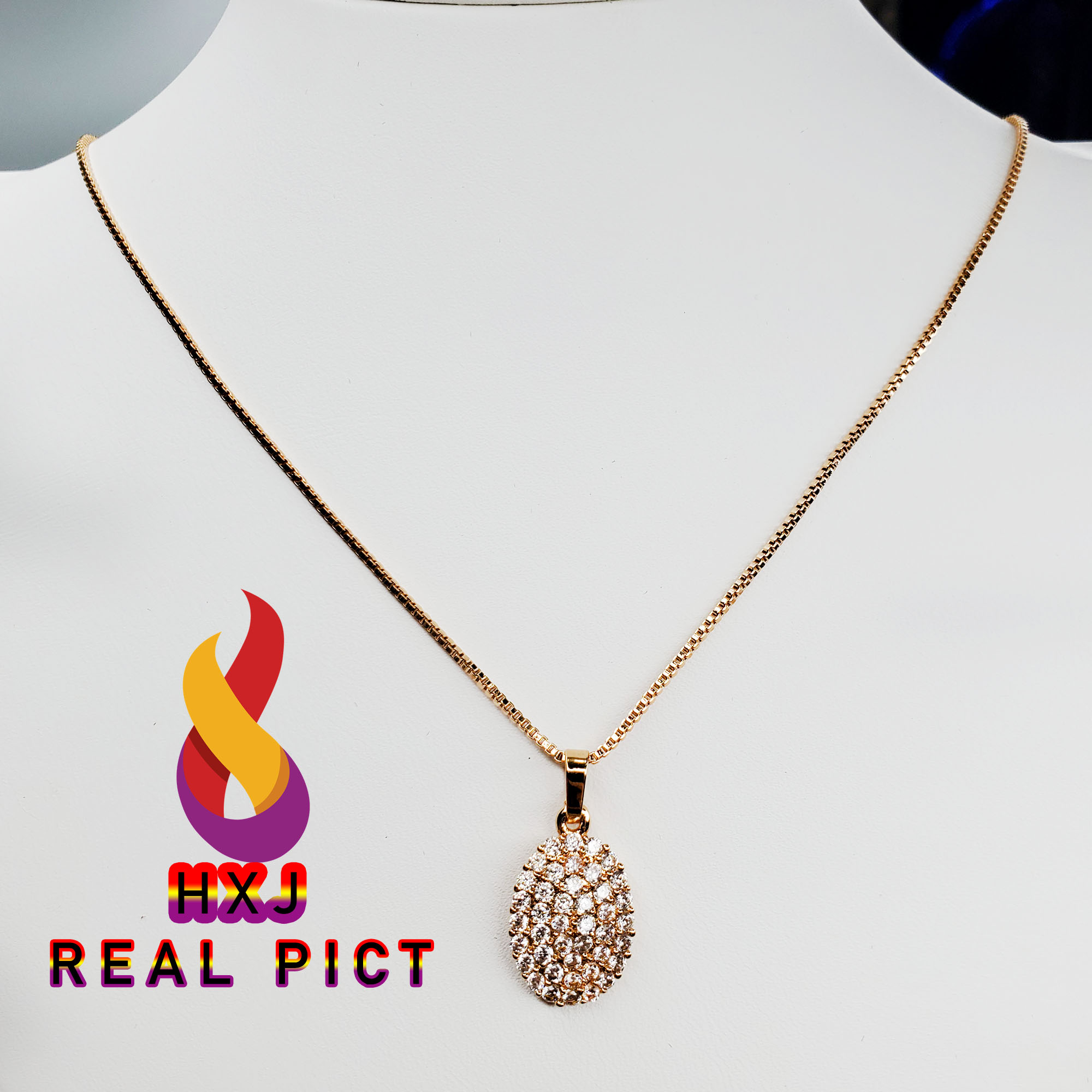 kalung xuping 24k lapis emas 24k oval perhiasan gold – xuping gold