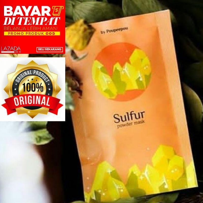masker organik ( sulfur ) by poupeepou masker dengan 100% bahan alami tanpa campuran bahan kimia melembutkan mencerahkan antioksi memutihkan menghaluskan mengatasi jerawat menghilangkan  jerawat mengurangi komedo dapat menyerap minyak