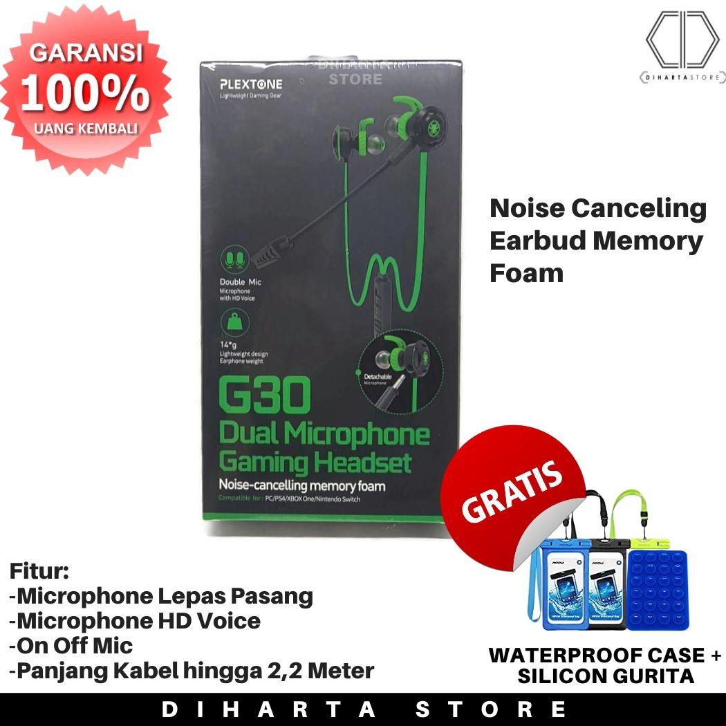 headset gaming plextone g30 earphone headphone game handsfree handset