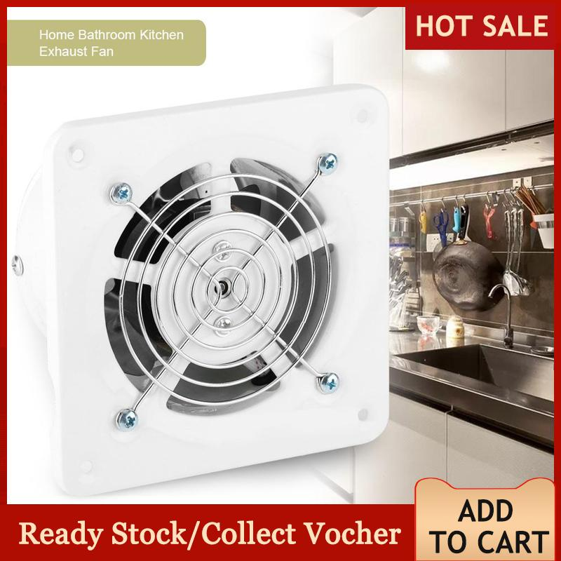 25W 220V Wall Mounted Exhaust Fan Low Noise Home Bathroom Kitchen Garage Air Vent Ventilation